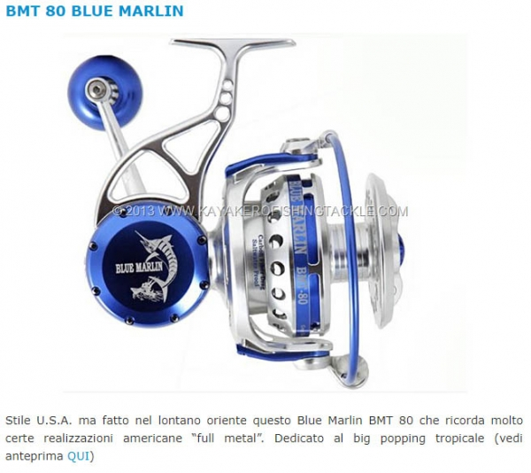 Our BMT80 reel in TOP 10 REELS of 2013