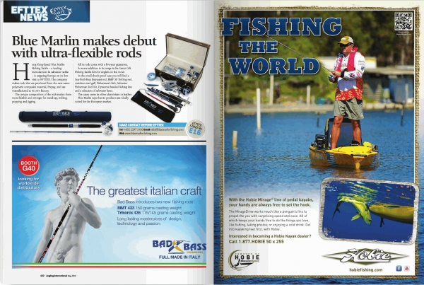 In May issue of Angling International
